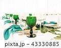 お皿 ナプキン ガラス製の写真 43330885