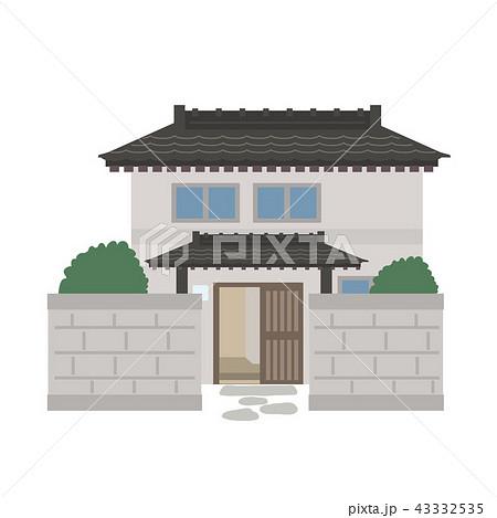 昭和 昔 一軒家 イラスト 43332535