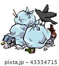 ゴミ 迷惑 カラスのイラスト 43334715