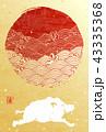 年賀状 亥 亥年のイラスト 43335368