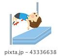 走り高跳びをする男性 43336638