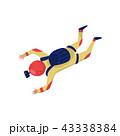 スカイダイビング パラシュート 落下傘のイラスト 43338384