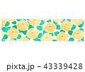 バナー 椿 花のイラスト 43339428