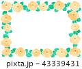 フレーム 椿 花のイラスト 43339431
