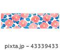バナー 椿 花のイラスト 43339433