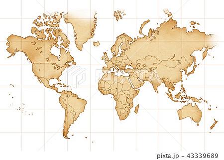 手描き 地図 古地図 テクスチャー 43339689