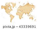 古地図 地図 古いのイラスト 43339691