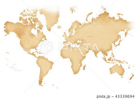手描き 地図 古地図 テクスチャー 43339694