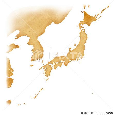 手描き 地図 古地図 テクスチャー 43339696