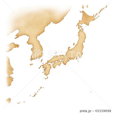 手描き 地図 古地図 テクスチャー 43339698