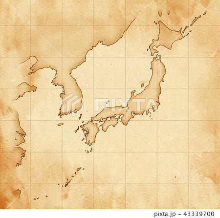 手描き 地図 古地図 テクスチャー 43339700