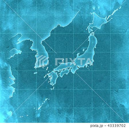 手描き 地図 古地図 テクスチャー 43339702