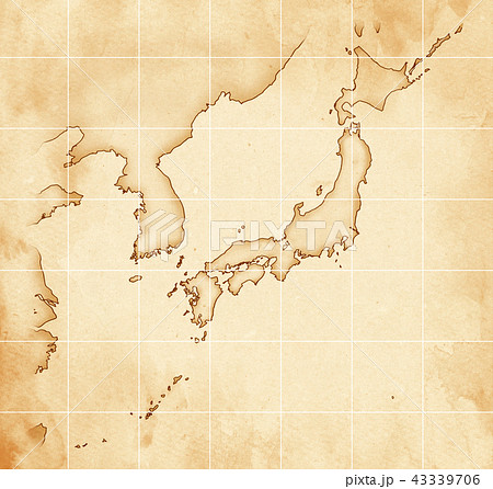 手描き 地図 古地図 テクスチャー 43339706