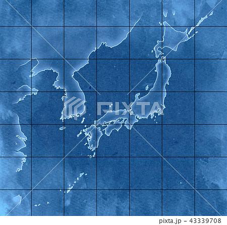手描き 地図 古地図 テクスチャー 43339708