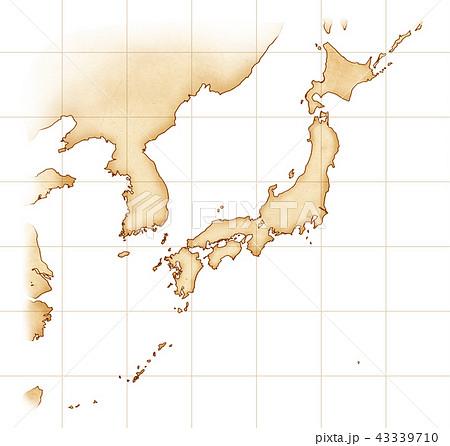 手描き 地図 古地図 テクスチャー 43339710