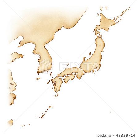 手描き 地図 古地図 テクスチャー 43339714