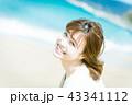 女性 人物 ビーチの写真 43341112