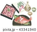 赤飯と祝い鯛 晩酌セット 43341940