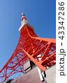 青空 タワー 東京タワーの写真 43347286