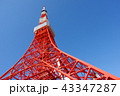 青空 タワー 東京タワーの写真 43347287