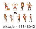 海賊 キャプテン 船長のイラスト 43348042