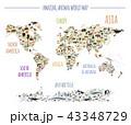ワールド 世界 地図のイラスト 43348729