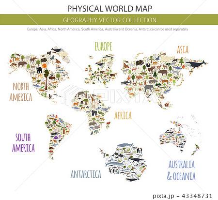 Flat world flora and fauna map constructor 43348731