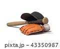 バット ベースボール 野球のイラスト 43350987
