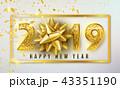 2019 クリスマス バックグラウンドのイラスト 43351190