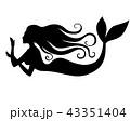 マーメイド マーメード 人魚のイラスト 43351404