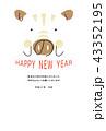 年賀状 猪 亥のイラスト 43352195