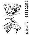 ロゴ 動物 デザインのイラスト 43352259
