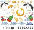 鶴 亀 松竹梅のイラスト 43352833