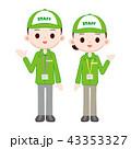 イベントスタッフ 緑のスタッフブルゾンとキャップ 43353327