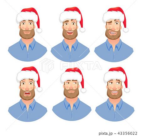 Face of man with beard 43356022