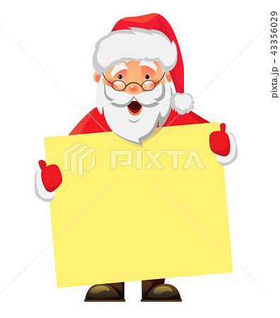 Santa Claus holding banner 43356029