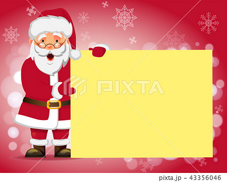 Santa Claus holding banner 43356046