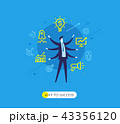 ビジネス 職業 ビジネスマンのイラスト 43356120
