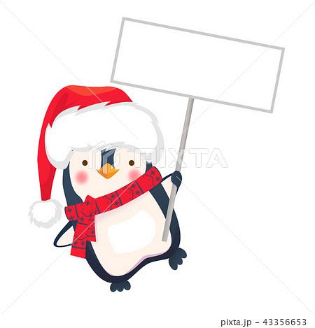 penguin holding sign 43356653
