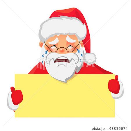 Santa Claus holding banner 43356674