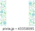 青いボタニカルフレーム 43358095