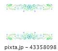 青いボタニカルフレーム 43358098