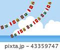 アジア地域のガーランド背景 43359747