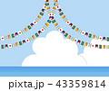 アジア地域の国旗背景 43359814