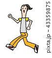 ウォーキング 運動 女性のイラスト 43359875