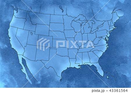 手描き 地図 古地図 テクスチャー 43361564