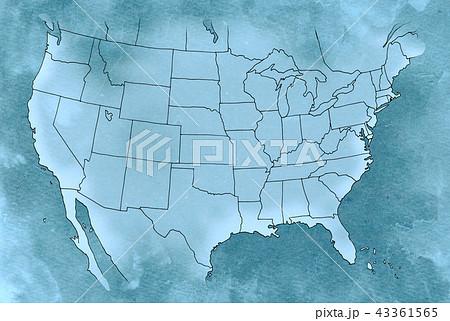 手描き 地図 古地図 テクスチャー 43361565