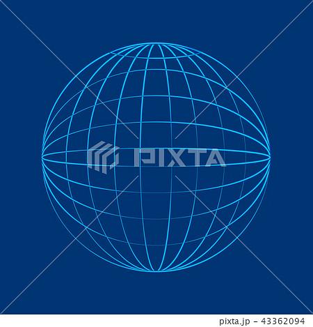 Globe wireframe in flat style 43362094