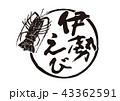 伊勢えび 筆文字 43362591