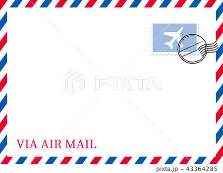 エアメールのイラスト背景切手消印付き ベクターデータ